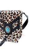 Koeienhuid Dames tas Lina leather/Van Fiel met luipaard print_