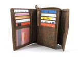 Koeienhuid portemonnee bruin-wit met RIFD_