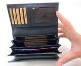 Lederen portemonnee RFID Van Fiel zwart_