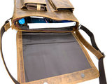 Van Fiel Carvano lederen schoudertas geschikt tm 15.6 inch laptop _