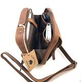 Van Fiel Carvono lederen schoudertas met handvat uitstekende kwaliteit_