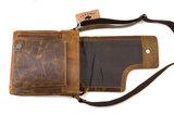 Van Fiel Carvono lederen schoudertas met flap uitstekende kwaliteit cognac _