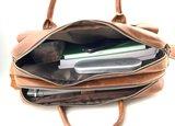 Lederen Van Fiel laptoptas 16 inch cognac _