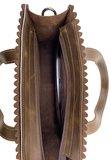 Koeienhuid mini shopper met lange hengsel bruin_