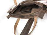 Koeienhuid  bruin/wit medium shopper met lange hengsel_