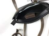 Koeienhuid zwart medium shopper met lange hengsel_