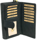 koeienhuid dames portemonnee met ruimte voor 20 pasjes _