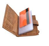 RFID Pasjeshouder met geld en munten ruimte - lederen portemonnee - bruin Van Fiel_
