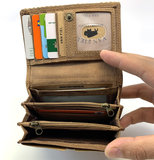 koeienhuid dames portemonnee bruin met RFID_