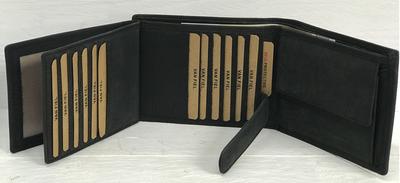 Van Fiel Portemonnee -RFID- Heren zwart mat met 22 pasjes