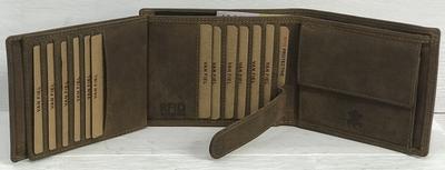 Van Fiel Portemonnee -RFID- Heren Bruin met 22 pasjes