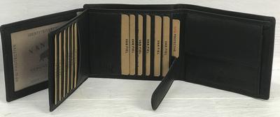 Van Fiel Portemonnee -RFID- Heren zwart met 22 pasjes