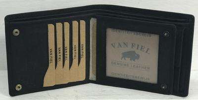 Van Fiel Portemonnee -RFID- Heren zwart mat