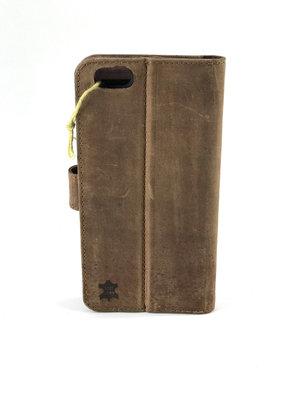 Lederen telefoonhoesje bruin Van Fiel