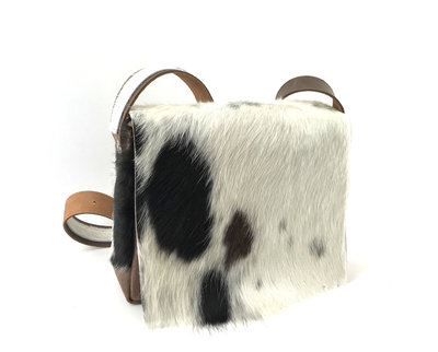 bruine/wit koeienhuid damestas