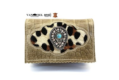 koeienhuid dames portemonnee met RFID
