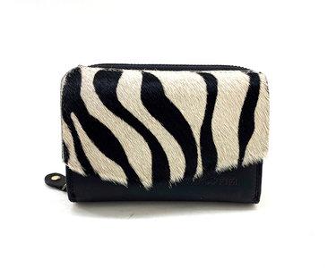 Koeienhuid portemonnee zebra print met RIFD