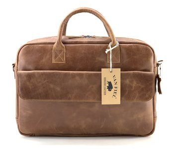 Lederen Van Fiel laptoptas Carvano Cognac 093